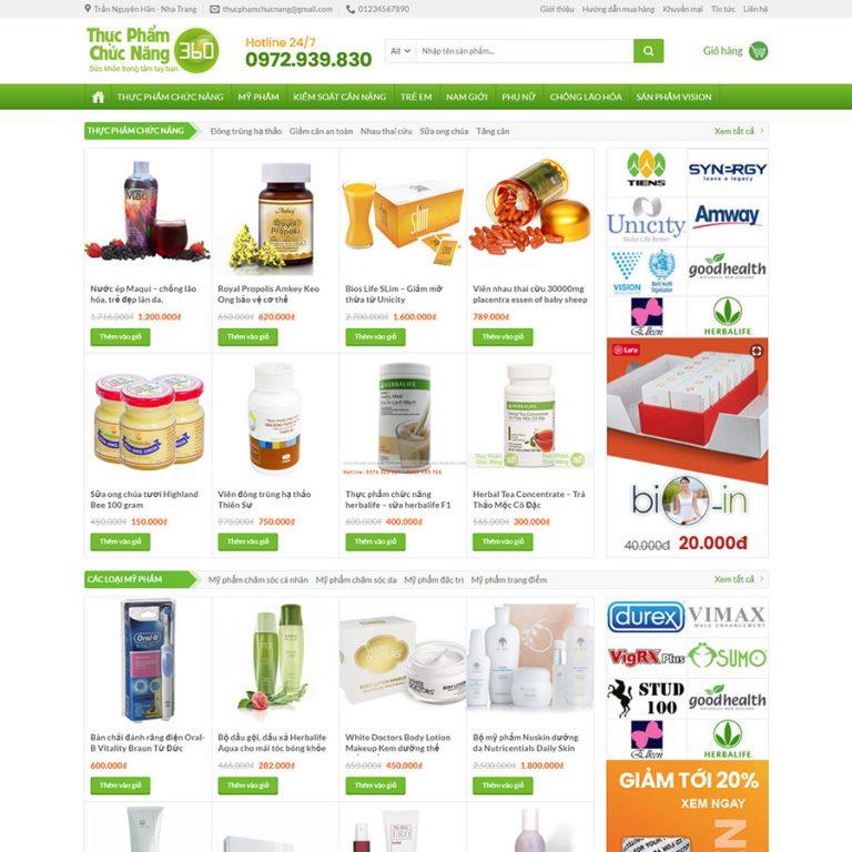 Mẫu web thực phẩm chức năng 06
