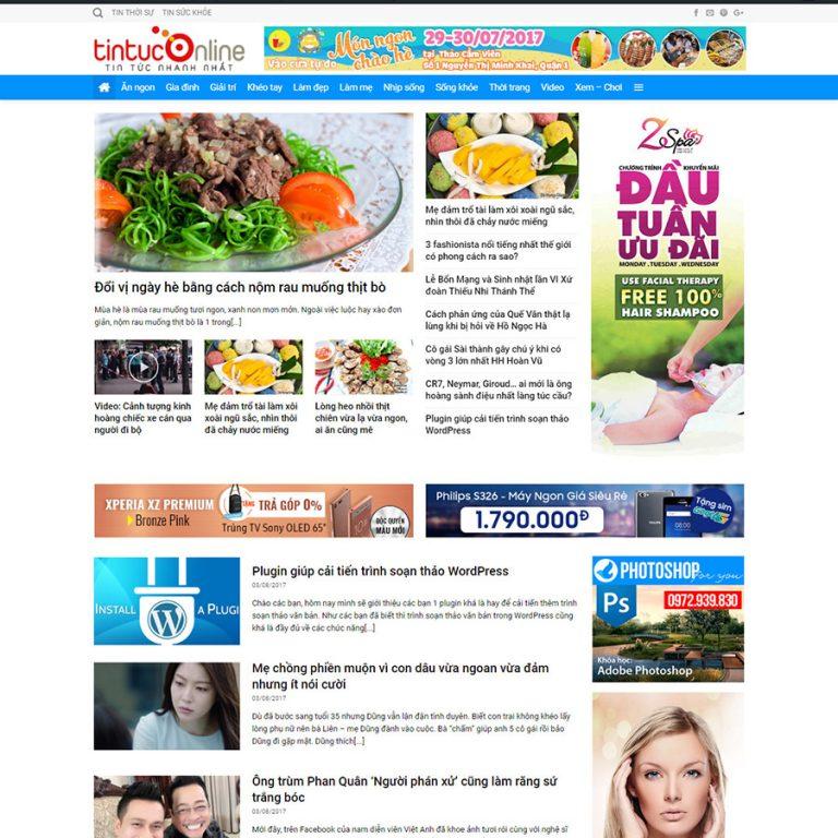Mẫu web tin tức 01