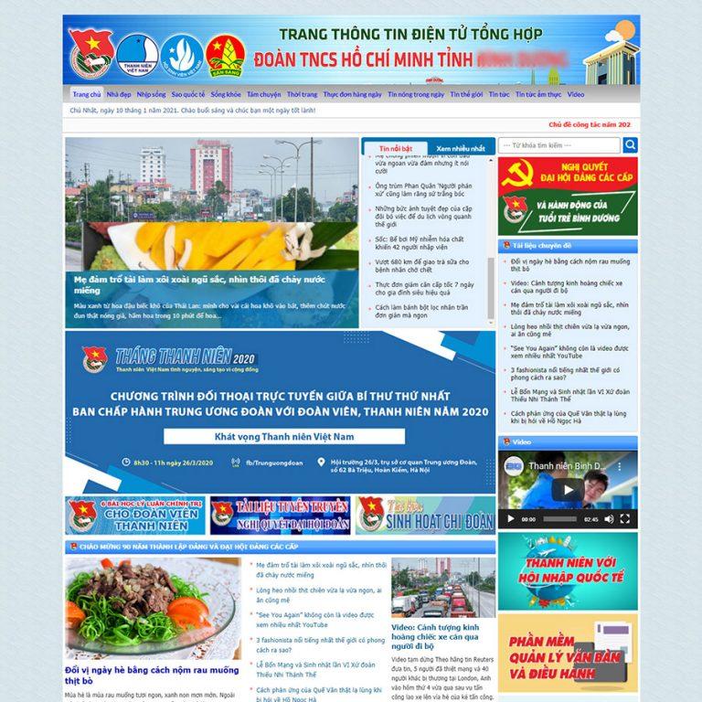 Mẫu web tin tức 12