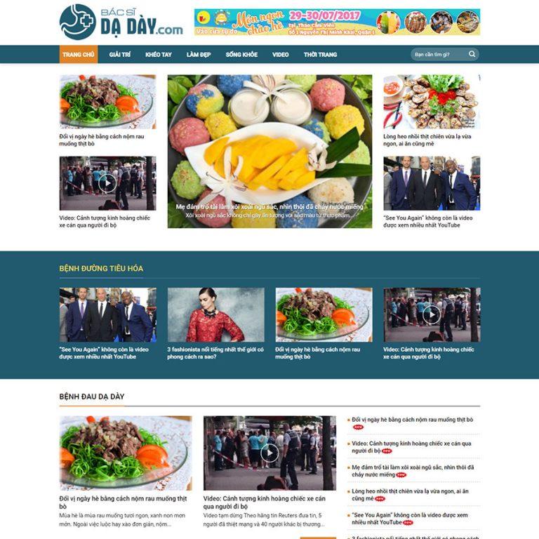 Mẫu web tin tức – sức khỏe