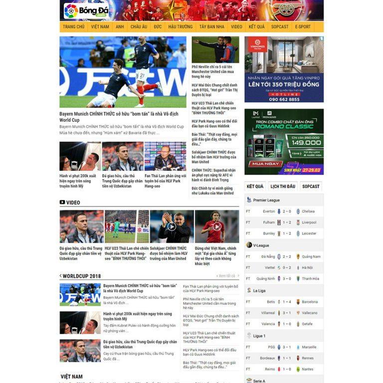 Mẫu web tin tức 06