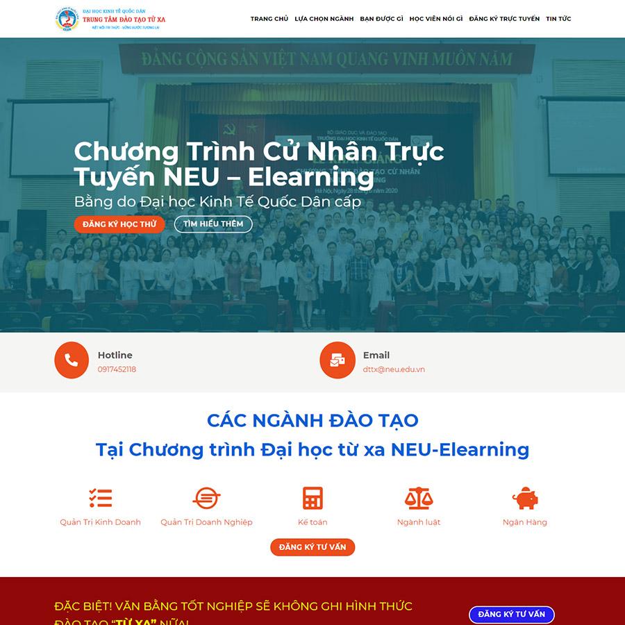 Mẫu web trung tâm đào tạo