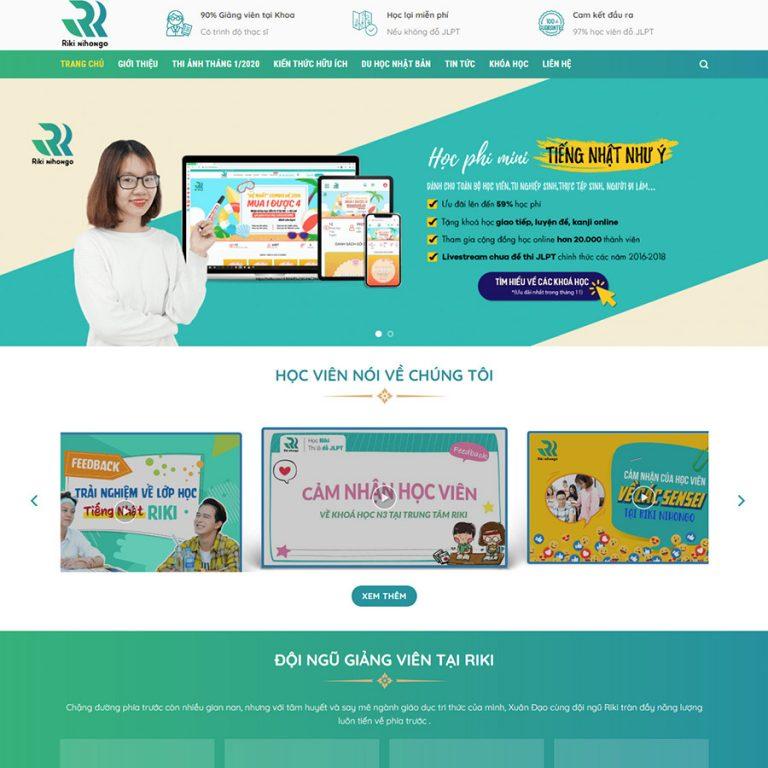 Mẫu web trung tâm ngoại ngữ